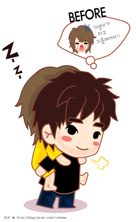 kangteuk anime version